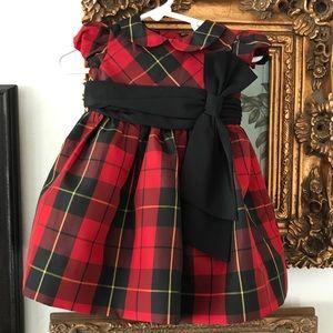 Ralph Lauren baby Tafata plaid dress
